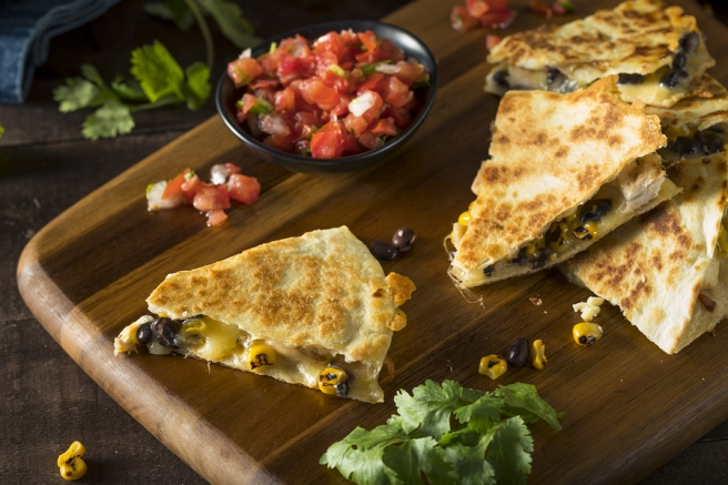Seven Loaves Catering stations with quesadillas