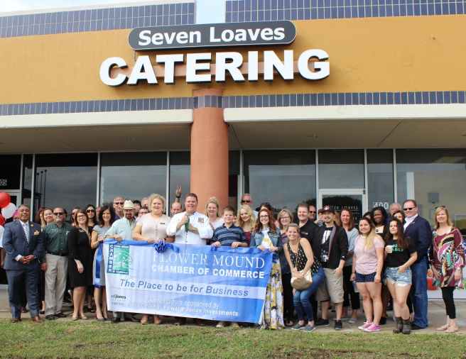 Seven Loaves ribbon cutting Flower Mound Chamber of Commerce