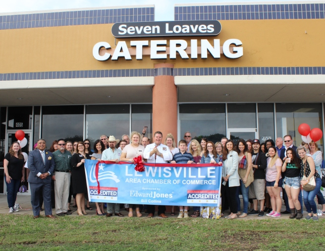 Seven Loaves ribbon cutting Lewisville Chamber of Commerce