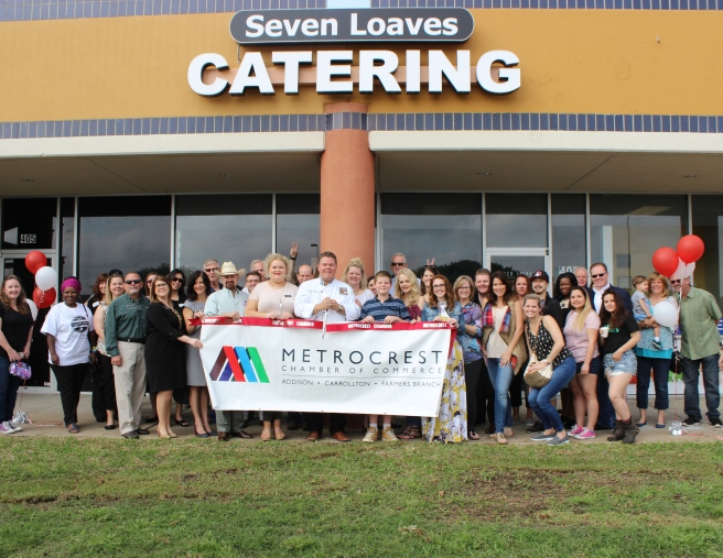 Seven Loaves Catering ribbon cutting Metrocrest Chamber of Commerce